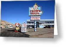 Tonopah Nevada - Clown Motel Greeting Card by Frank Romeo