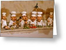 Too Many Cooks Spoil The Broth Greeting Card by Liam Liberty