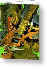 Too Much Vibrations Digital Guitar Art By Steven Langston Greeting Card by Steven Lebron Langston