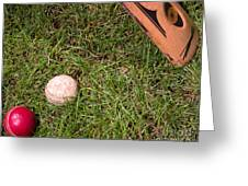 Tools Of The Game  Greeting Card by Tom Gari Gallery-Three-Photography