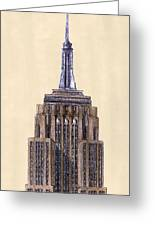 Top Of Empire State Building New York City Greeting Card by Gerald Blaikie