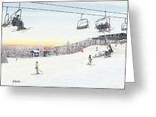 Top Of The Mountain At Seven Springs Greeting Card by Albert Puskaric