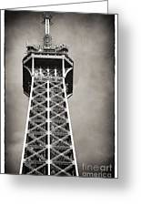 Top Of The Tower Greeting Card by John Rizzuto