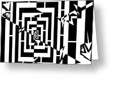 Torn Worm Hole Maze Greeting Card by Yonatan Frimer Maze Artist