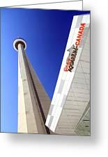 Toronto Landmarks Greeting Card by Valentino Visentini