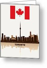 Toronto Ontario Canada Greeting Card by Daniel Hagerman
