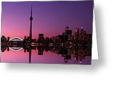 Toronto Skyline At Sunset, Toronto Greeting Card by Alan Marsh