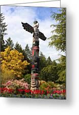 Totem Pole  Greeting Card by Carol Groenen