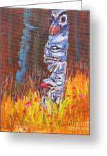 Totems Of Haida Gwaii Greeting Card by Mohamed Hirji