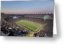 Touchdown New England Patriots  Greeting Card by Juergen Roth
