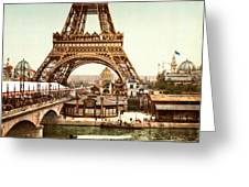 Tour Eiffel And Exposition Universelle Paris Greeting Card by Georgia Fowler