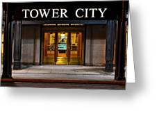 Tower City Cleveland Ohio Greeting Card by Frozen in Time Fine Art Photography