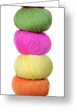 Tower Of Yarn Greeting Card by Jim Hughes