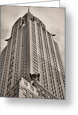 Towering Bw Greeting Card by JC Findley