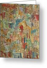 Town I Greeting Card by Oscar Penalber