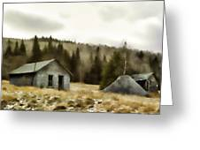 Township Remnants Greeting Card by Richard Bean