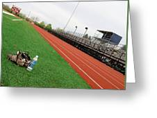 Track And Field Greeting Card by Tom Druin
