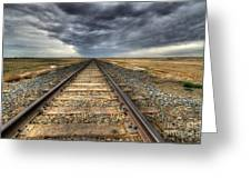 Tracks Across The Land Greeting Card by Bob Christopher