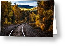 Tracks Through The Mountains  Greeting Card by Bob Orsillo