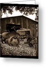Tractor And Barn Greeting Card by Linda Olsen