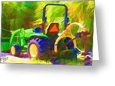 Tractor Greeting Card by Gerry Robins