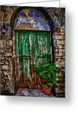 Traditional Door Greeting Card by Emmanouil Klimis