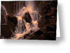 Traditional Waterfall At Sunset Greeting Card by Lawrence Christopher