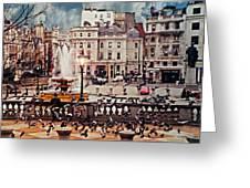 Trafalgar Square London Greeting Card by Diana Angstadt