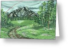 Trails  Greeting Card by Sweta Shalini