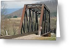 Train Bridge Greeting Card by Brenda Dorman