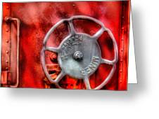 Train - Car - The Wheel Greeting Card by Mike Savad