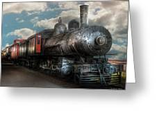 Train - Engine - 6 NW Class G Steam Locomotive 4-6-0  Greeting Card by Mike Savad
