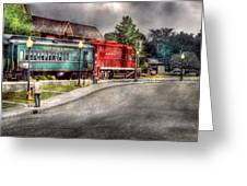 Train - Engine - Black River Western Greeting Card by Mike Savad