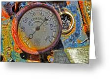 Train Gauge Greeting Card by Gregory Dyer