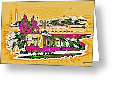 Train Greeting Card by Klaas Hartz