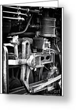 Train Pistons Greeting Card by John Rizzuto