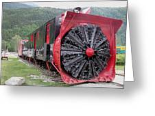 Train Snowplow Greeting Card by Steven Parker