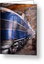 Train - The Maintenance Facility Greeting Card by Mike Savad