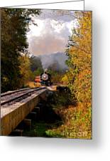 Train Through The Valley Greeting Card by Robert Frederick