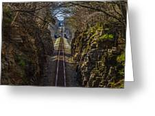 Train Tracks Photo Greeting Card by Rick McKee