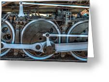 Train Wheels Greeting Card by Paul Freidlund