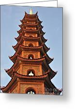 Tran Quoc Pagoda In Hanoi Greeting Card by Sami Sarkis