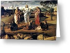 Transfiguration Of Christ 1487 Giovanni Bellini Greeting Card by Karon Melillo DeVega