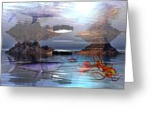 Translucent Interactions Greeting Card by Betsy C  Knapp