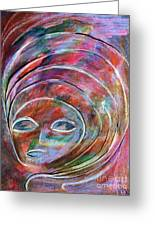 Translucent Woman Greeting Card by Melinda Firestone-White