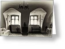 Transylvania Dracula's Castle Interior168 Greeting Card by Dorin Stef