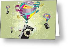 Traveling Camera  Greeting Card by Disko Galerie