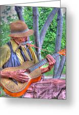 Traveling Troubadour Greeting Card by Putterhug  Studio