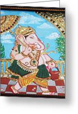 Travelling Ganesh Greeting Card by Jayashree