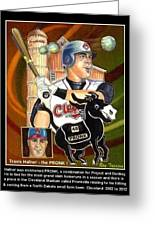 Travis Hafner The Pronk Greeting Card by Ray Tapajna